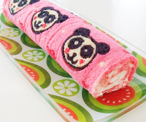 kawaii, panda, and pastry image