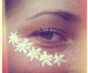flowers, eye, and daisy image