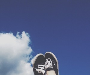 vans, sky, and shoes image