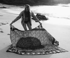 b&w, photography, and beach life image