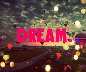 ballons, Dream, and clouds image