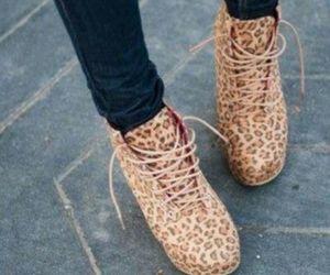 shoes, fashion, and cheetah image
