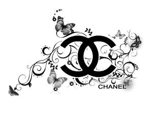 chanel, black, and Logo image