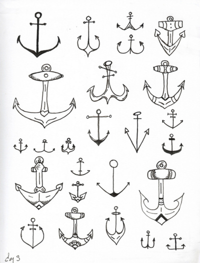 a note on design (Anchors - a selection of) | via Tumblr