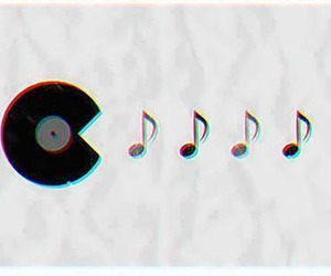 black n white, disc, and love music image