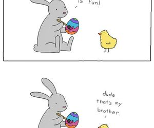 easter, funny, and bunny image