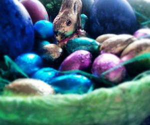 bunny, colors, and eggs image
