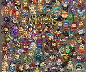 minions, lol, and champions image