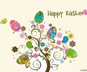 easter, happy, and eggs image
