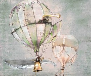 air balloon and painting image