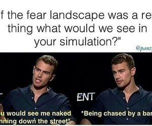 theo james, divergent, and banana image