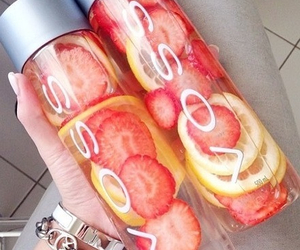 voss, strawberry, and water image