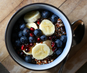 breakfast, banana, and food image