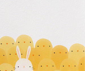 bunny, Chicken, and drawings image