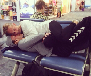 airport, boyfriend, and couple image