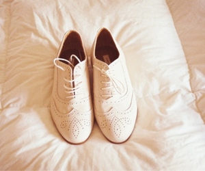 shoes, white, and oxford image