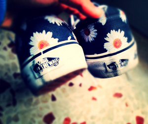 vans, flowers, and daisy image