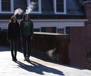 boy, smoke, and girl image