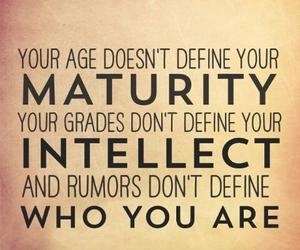 quote, intellect, and maturity image