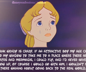 crazy, peter pan, and wendy darling image
