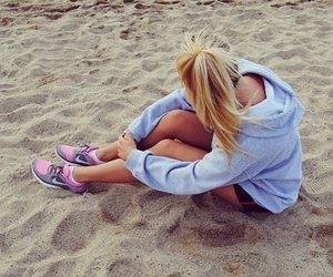 beach, girl, and Just Do It image