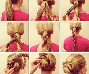 blond, simple, and braid image