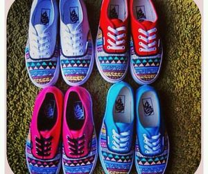 vans, shoes, and aztec image