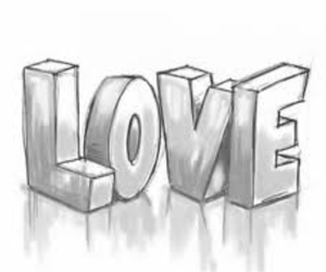 love and drawing image