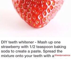 diy, teeth, and strawberry image
