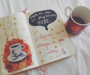 book, cup, and draw image