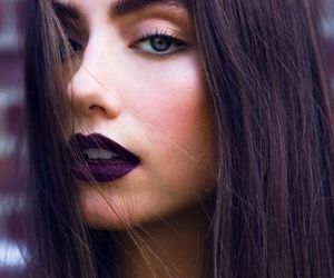 makeup, lips, and hair image