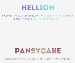 divergent, pansycake, and nose image
