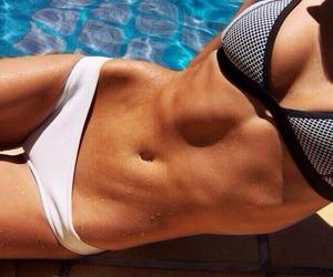 black and white, hot bod, and triangle bikini image