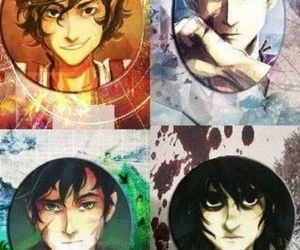 percy jackson, nico di angelo, and leo valdez image