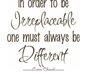 quote, coco chanel, and different image