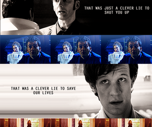 clever, matt smith, and river song image