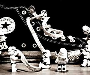 black, converse, and legos image