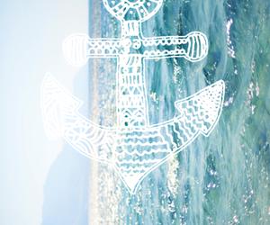 sea, summer, and anchor image