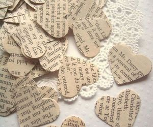 hearts, love, and book image