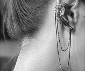 beautiful, earrings, and hipster image