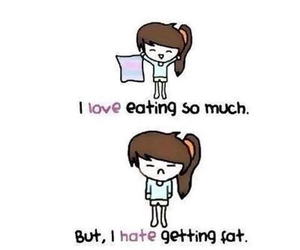 fat, food, and hate image