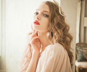 beautiful, long hair, and model image
