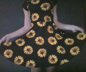 dress and sunflowers image