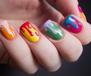 nails, colorful, and nail art image