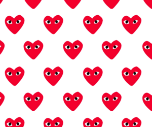 background, heart, and pattern image