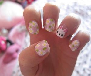 nails, beautiful, and bunny image