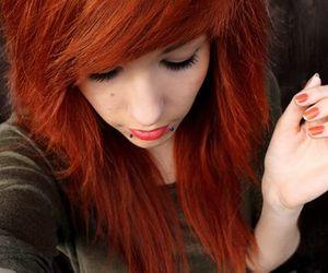 girl, red hair, and orange hair image