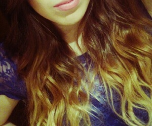 curls, ombre, and girl image