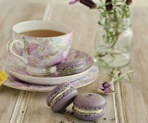 tea, purple, and flowers image