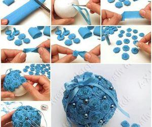 diy, christmas, and blue image